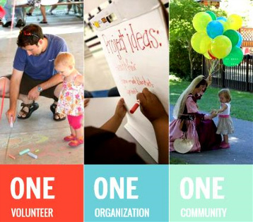ONE volunteer, ONE Organization, One Community